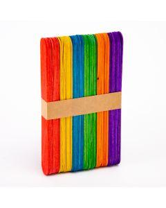 Paleta madera colores 15cm 50und