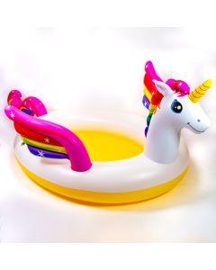 Piscina inflable unicornio 107X76X41 pulg