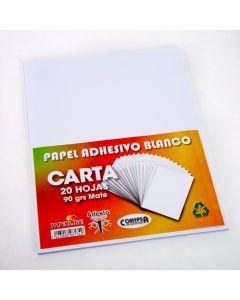Papel Adhesivo Blanco Carta 20H
