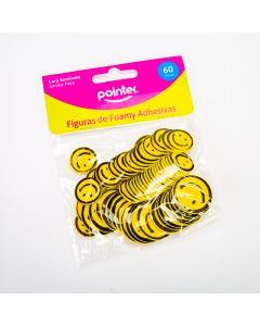 Figura pointer foam carita feliz amarilla